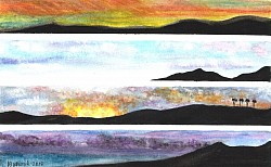 Cabo Sunsets, Pueblo Bonito Sunset Beach, Watercolor